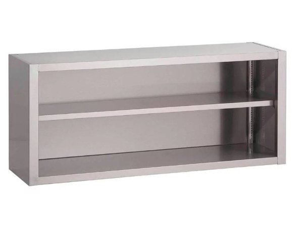 Gastro M Stainless Steel Open Wall Cabinet - Available in 8 widths - 40 (d) x60 (h) cm