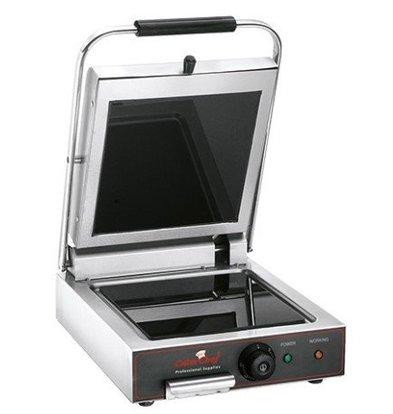 Caterchef Contactgrill Keramisch Glad | 25x25cm | Snel tot 400°C | 1600W | 340x480x170(h)mm