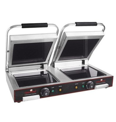 Caterchef Dubbele Contactgrill Keramisch Glad | Snel tot 400°C(!) | 3200W | 700x480x170(h)mm