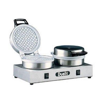 Dualit Waffle Machine Double - Round Model - 400x220x (h) 190mm - 1600W