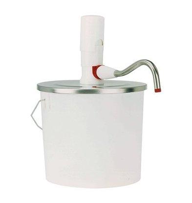 XXLselect Bucket Dispenser ABS - 10 Liter - Plastic - Stainless steel lid - 26,5cm