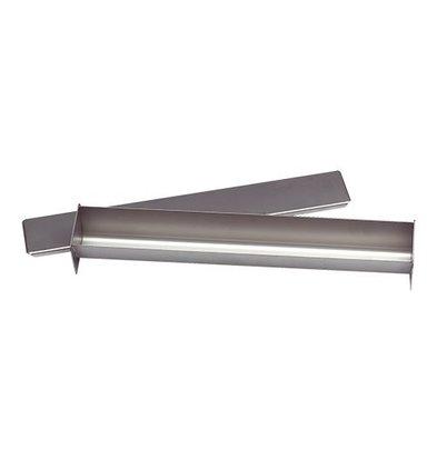 XXLselect Pate Vorm | Roestvrij Staal | Vierkant | met Deksel | 55x450x60mm