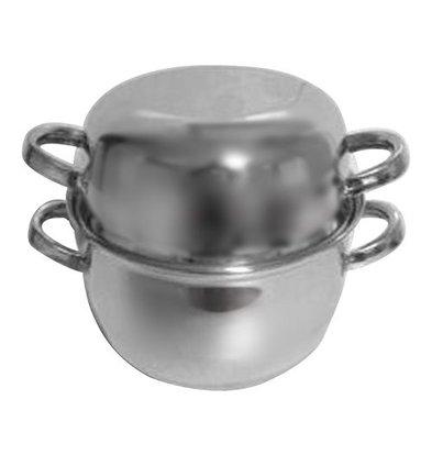 XXLselect Mosselpan RVS | Medium Porties | Ø180mm | 1kg