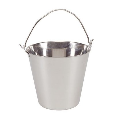 XXLselect Stainless steel bucket 14 Litre