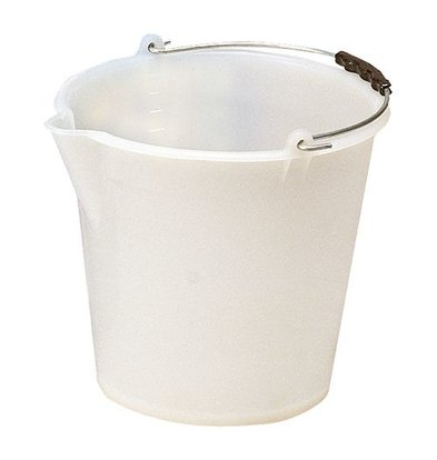XXLselect Bucket White Kunststofcentrum 12 Liter - Spout