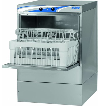 Glazenspoelmachine |  40x40cm | 470x510x(H)710mm | Naglans+ Zeepdispenser | Met  Afvoerpomp