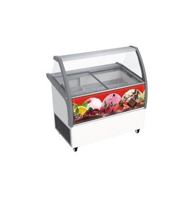 Combisteel Scoop ice cream display Bali | 8x 5 Liter | 858x1202x1257 (h) mm