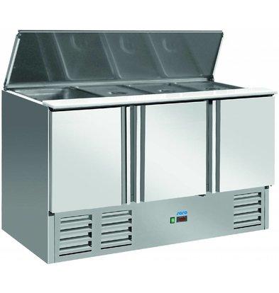 Saro Saladette 1365x700X850 / 885 (h) mm - 2 years warranty - 3 Doors