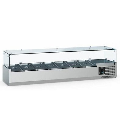 Ecofrost Set-up refrigerator display - 5x 1/4 GN - 120x33.5x (H) 43.5 cm