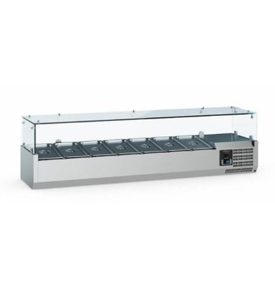 Ecofrost Set up refrigerated display case - 6x 1/3 GN - 140x39,5x (H) 43.5 cm