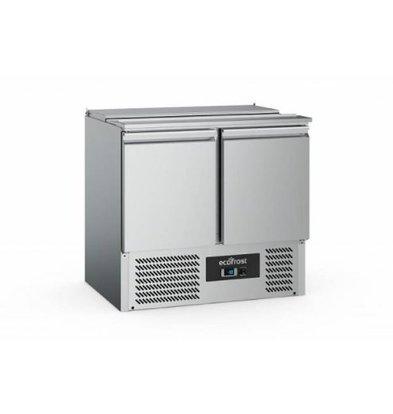 Ecofrost Saladette - 2 deurs - 240 liter - 90x70x(h)88cm