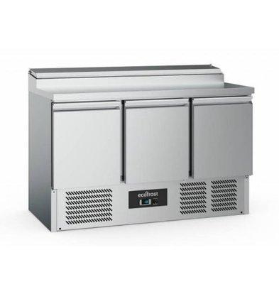 Ecofrost Saladette - 3 deurs - 392 liter - 137x70x(h)97cm