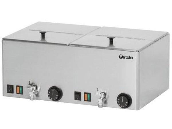 Bartscher Worstenwarmer Dubbel - Bain Marie met Aftapkraan - 535x395x(H)240 mm