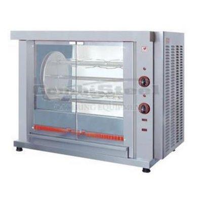 Combisteel Kippengrill rotatie - 3 Spitten - 1020x640x(h)830mm - 5.4KW - 9 Kippen