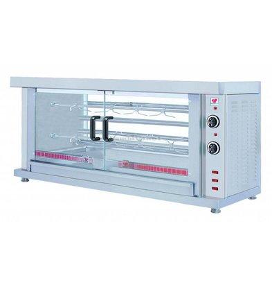 Combisteel Kippengril Electrisch - 2 Spitten -1320x460x(h)660mm - 5.2KW - 10 kippen