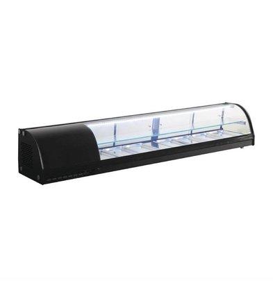 Polar Chilled Tapas Display Case 7 x GN1 / 3 | 180x39x (H) 33cm