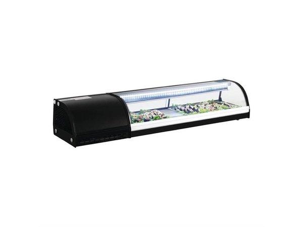Polar Gekühlte Sushi Vitrine 5 x GN1 / 3 | 150x39x (H) 29cm