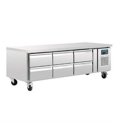 Polar Low Cooling Workbench 6 GN1 / 1 drawers 317 liters 179.5x70x (H) 65cm