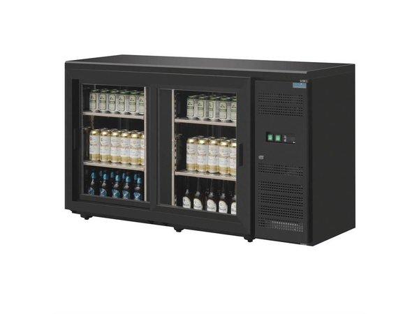 Polar Bar Kühlschrank 2 Schiebetüren | 350 Liter 146,2x51,3x (H) 86 cm