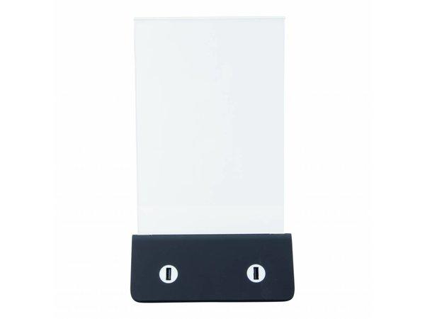 Securit Energien-Bank-Menü Halter | Incl. USB-Kabel | 277x160x70mm