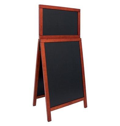 Securit Stoepbord Holz Mahagoni - Duplo Top 55x120 - DELUXE