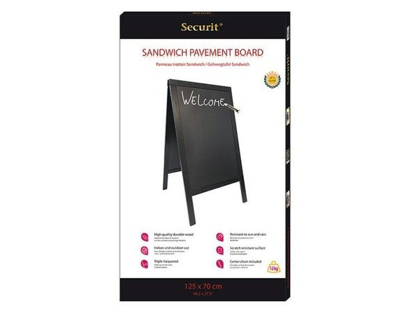 Securit Sidewalk Bord Black - Duplo 70x125 - BASIC - XXL Offer