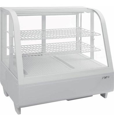 Saro Kühlvitrine Design - 100 Liter - weiß - 68x45x (h) 67cm