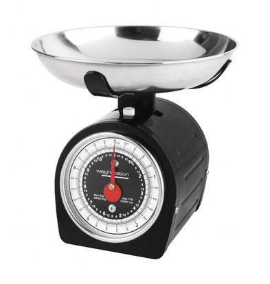 Weighstation Weighstation Zwarte Weegschaal 5kg | Ø20,5x(H)20cm