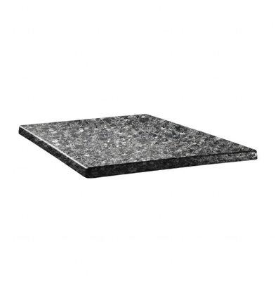 Topalit Topalit Classic Line | Vierkant Tafelblad | Zwart Graniet | Beschikbaar in 3 maten