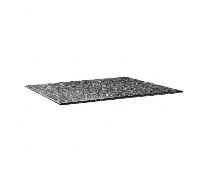 Topalit Topalit Smartline   rechthoekig Tafelblad   Zwart Graniet   120x80cm
