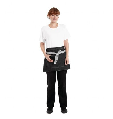Whites Chefs Clothing Whites Southside Denim | Bistroschort Zwart | 40x76cm