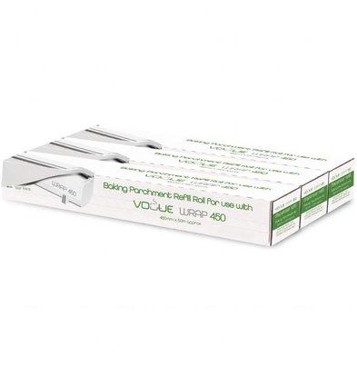 Vogue Bakpapier navulling voor Vogue Wrap450 Dispenser | 3 Rollen 50 Meter