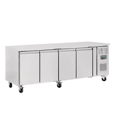 Polar Chilled Workbench - SS - 4 Doors - 223x60x (h) 86cm