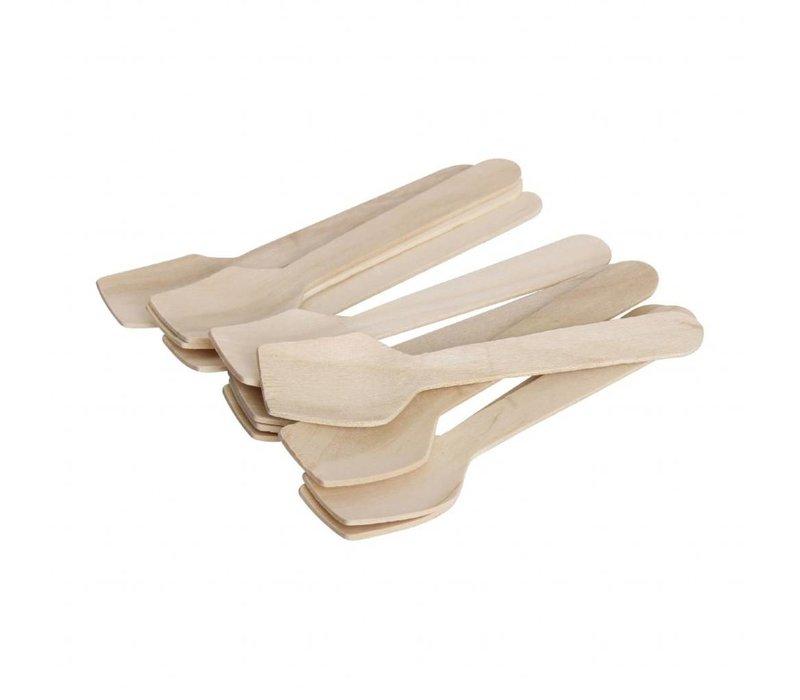 Fiesta Berkenhouten ijslepel | 100 stuks | 9,6(l)cm
