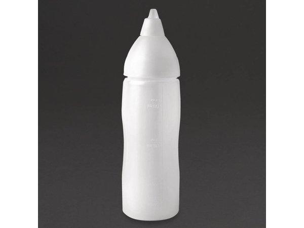 Araven Anti-drup knijpfles polyethyleen transparant | 30cl | 20,3(H)cm