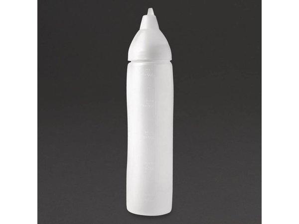 Araven Anti-drup knijpfles polyethyleen transparant | 50cl  | 26,1(H)cm