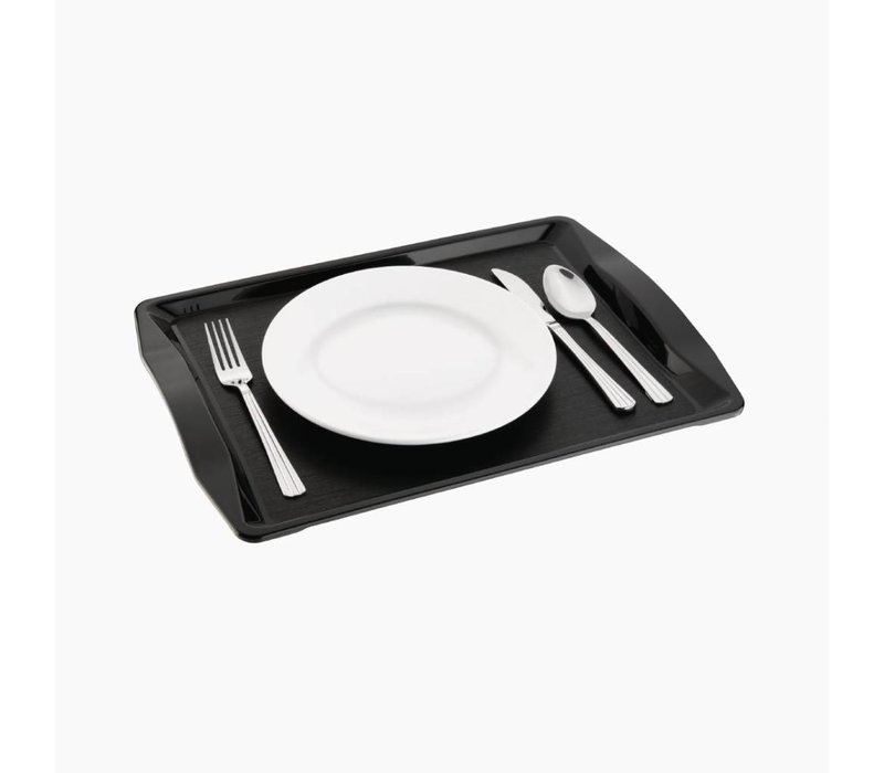 Kristallon Dienblad   Fastfood   Zwart   42x30,5x(H)2,5cm