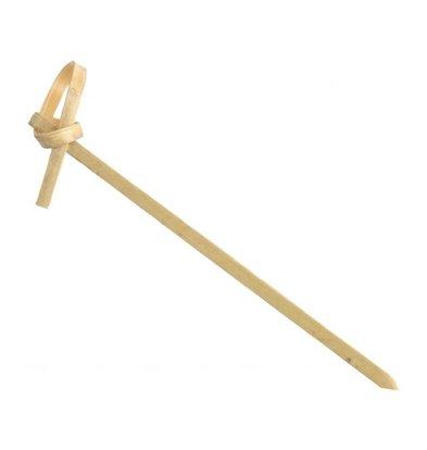 Fiesta Bamboeprikkers | Met krul | 100 stuks | 9(l)cm