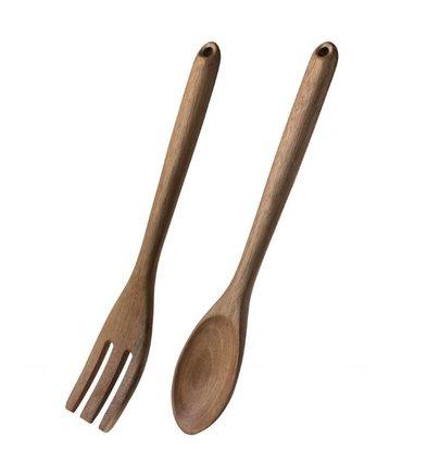 Olympia Saladebestek | Hout | Mes en lepel | 11,3x31,5x(H)1,5cm