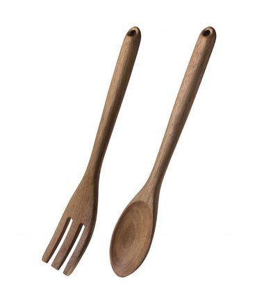 Olympia Saladebestek | Hout | Vork en Lepel | 11,3x31,5x(H)1,5cm