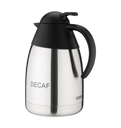 Olympia Isoleerkan | RVS | 1,5 Liter | Voor cafeïnevrije koffie