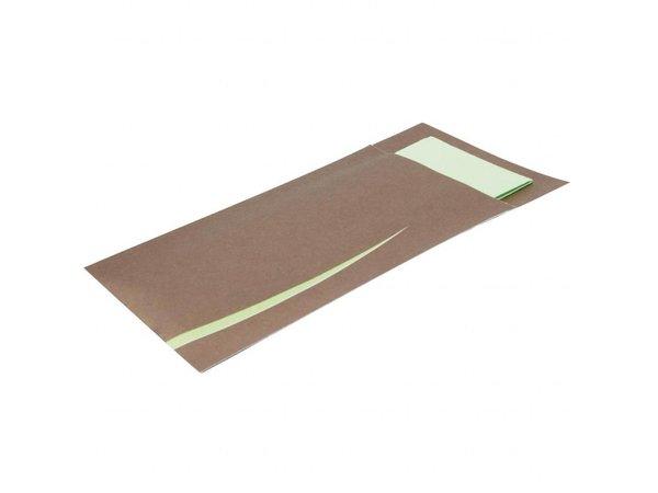 Europochette Bestekzakjes met servet | bruin | 125 stuks