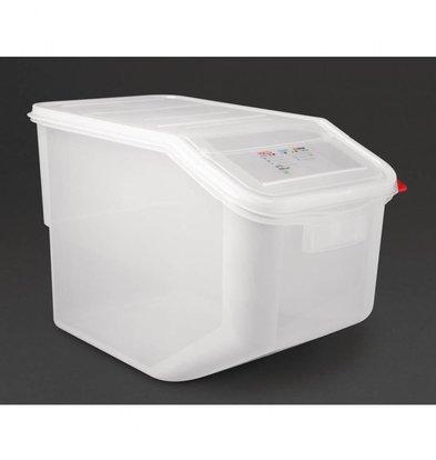 Araven Ingrediëntenbak transparant | 50 Liter | 56,5x34(H)40cm
