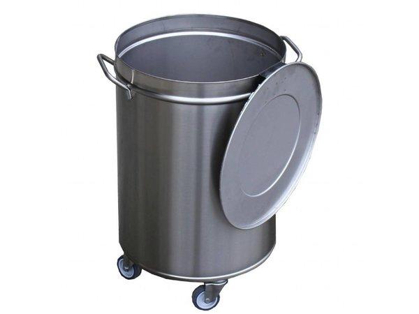 Gastro M Afvalemmer | 50 Liter | Op wielen