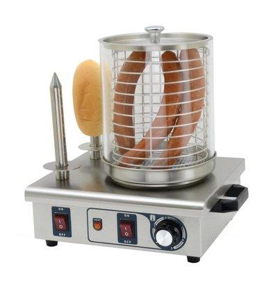 Buffalo Hotdogwarmer met 2 warmhoudpennen | 550W/230V | 41x34x37(H)cm