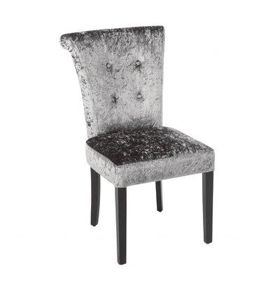 Bolero Stoel eetkamer fluweel grijs | 2 stuks | 54x62,5x95,5(H)cm