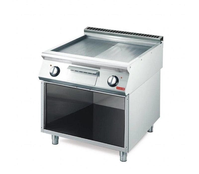 Gastro M Bakplaat | Electrisch | 10,8kW | Glad / Geribbeld |  80x70x(H)85cm