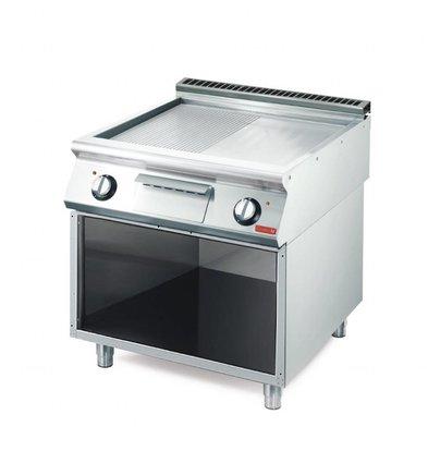 Gastro M Bakplaat | Electrisch | 10,8kW | Verchroomd Glad / Geribbeld |  80x70x(H)85cm