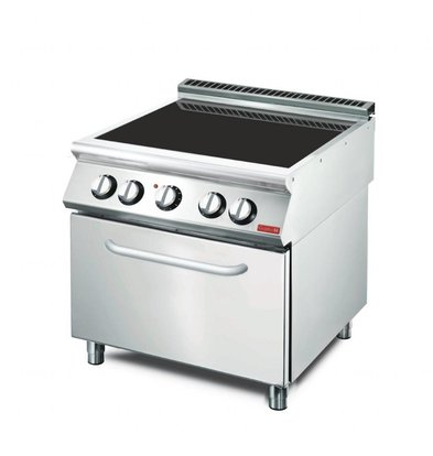 Gastro M Keramische kookplaat | 4 Kookzones | 15,2 kW | 80x70x(H)85cm