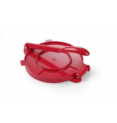 Hendi Tortilla Pers Rood Aluminium | Ø200mm